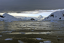 A view of the coast in Antarctica