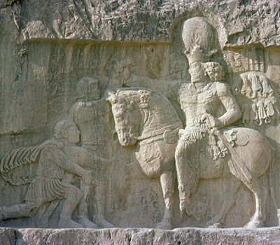 King Shapur I and the Roman emperor Valerian