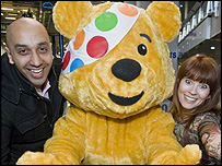 Tommy, Pudsey and Joanne