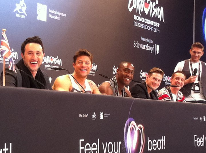 Blue at the Eurovision press conference