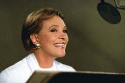 Image: Julie Andrews recording the voice of Queen Lillian for Shrek II
