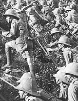 British troops advance at Gallipoli