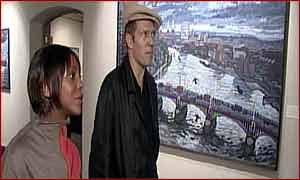 Paul Simonon with BBC London's Brenda Emmanus