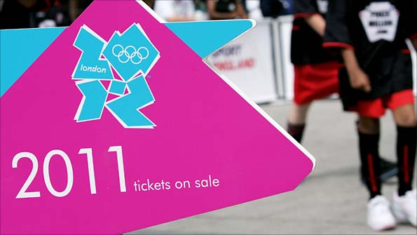 Ticket sign for the 2011 Olympics