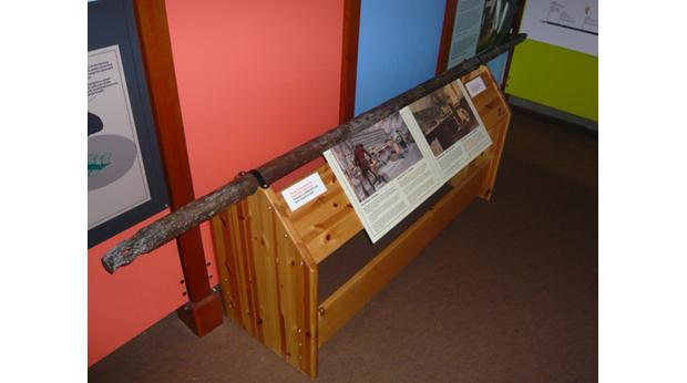 This wrought iron bar was used to bore out cannon at Wilkinson's Bersham Ironworks, Wrexham.© Wrexham Heritage Service