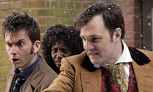 David Tennant and David Morrissey in Doctor Who (image: BBC/Adrian Rogers)