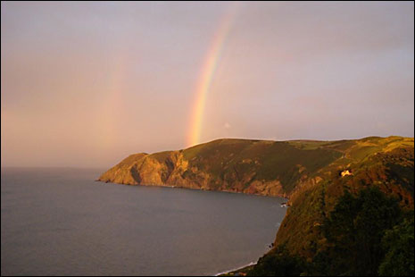 Rainbow over Foreland Point