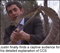 Justin meets a rattlesnake