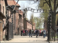 The gates at Auschwitz