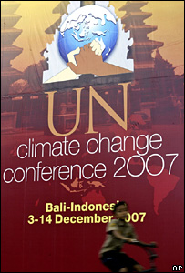 Sign promoting UN climate change conference in Bali