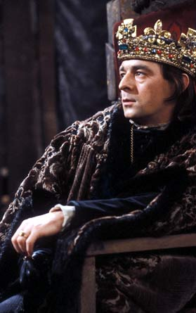 King Richard III on his throne
