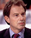 The first 'New' Labour Prime Minister, Tony Blair