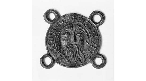 A medieval souvenir pilgrim badge from Amiens Cathedral