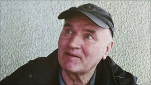 Mladic following his arrest