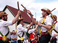 A group of Morris dancers.