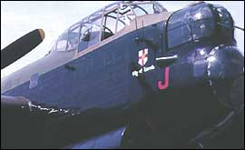 Front of Lancaster Bomber (City of Lincoln)