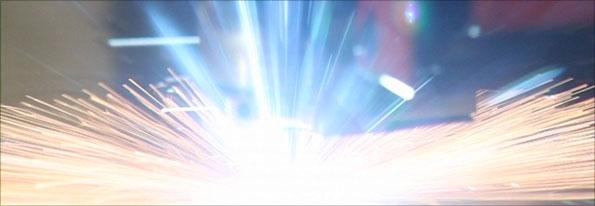 Laser cutting at Numatic, Chard