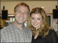 Mark Seaman and Katherine Jenkins