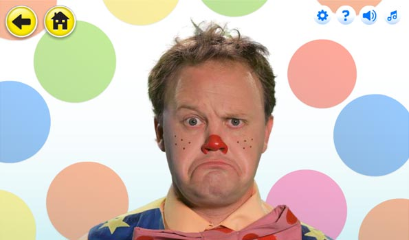 Mr Tumble pulling a silly face