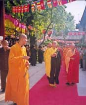 Procession of Buddhist monks