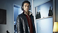 Vampire Mitchell (Aidan Turner) tries to steer clear of blood in BBC Three's new comedy series about a group of unlikely housemates
