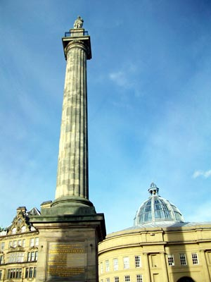 Earl Grey's monument in Newcastle