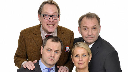 Vic Reeves, Bob Mortimer, Jack Dee and Ulrika Jonsson pictured for the Christmas 2008 special