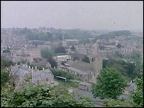 The view of Bradford from St Mary's Tory on North Hill
