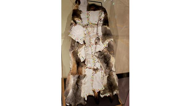 Possum skin cloak - made by Mor Mor (Maureen Reyland), Muthi Muthi Aboriginal people (copyright Australian Museum)