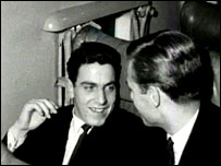 A 17-year-old Don Rogers talking to Owen Dawson