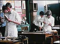 Woodwork at Myers Grove school, 1970