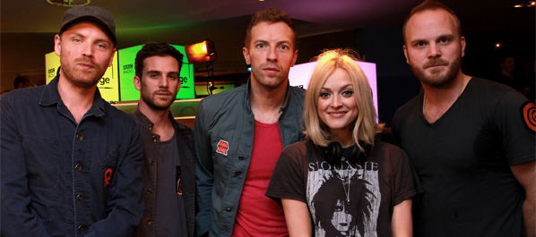 Coldplay and Fearne