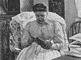 Image of Victorian woman darning