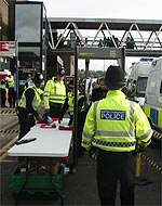 Police deploy two knife arches at the station