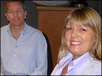 Martin and his wife Liz popped into the studio.