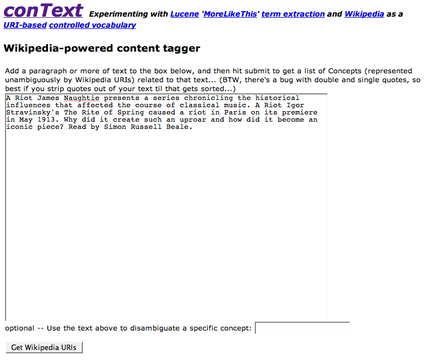 conText text submit page