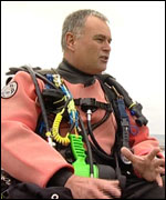 Professional diver Peter Church