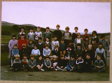 A school photo from the 1986 Domesday Project