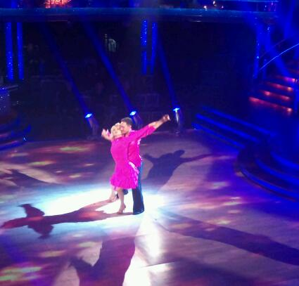 Felicity Kendal and Vincent Simone in the Strictly dress rehearsal