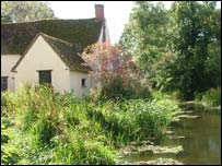 The pond where Constable sketched 'The Hay Wain'