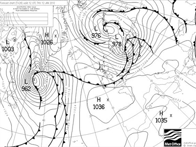 Met Office chart from Thursday 12pm