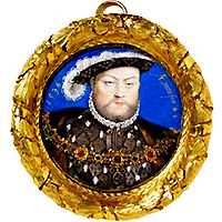 Henry VIII by Nicholas Hilliard after Hans Holbein the Younger, circa 1600