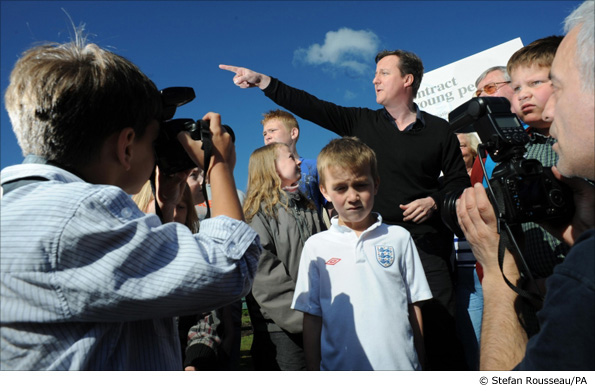 David Cameron visiting a social action project in Blackpool