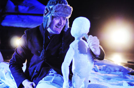 Aled Herbert as Boy in Snow Child. Image courtesy of Sherman Cymru