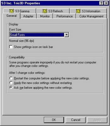 BBC - My Web My Way - Windows - Making text larger in Windows 98
