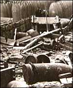 Aftermath of the blast at Chilwell