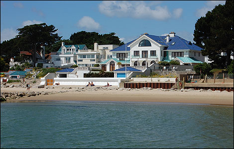 Beach houses, Sandbanks.