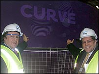 Curve - Ross Willmott outside Leicester's Curve