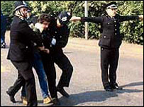 Picket arrest in Orgreave