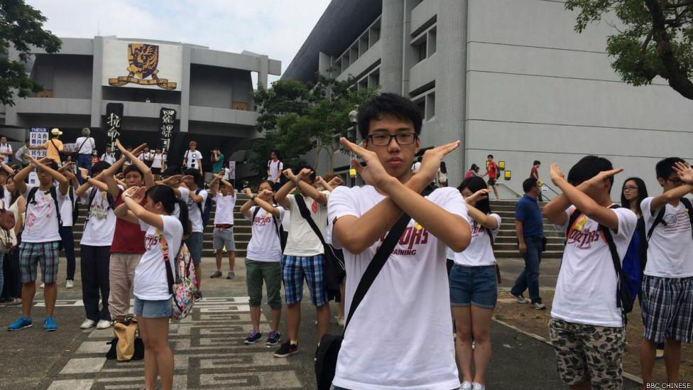 圖輯: 香港大專學生開始罷課五天